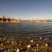 Lakefront And Sunset At Mono Lake, Eastern Sierra, California, U Poster