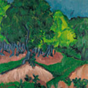 Landscape With Chestnut Tree Poster
