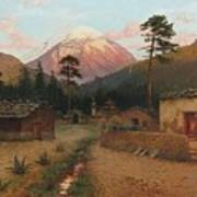 Landscape With Volcano Poster