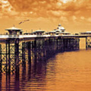 Llandudno Pier North Wales Uk Poster