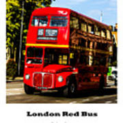 London Red Bus. Poster
