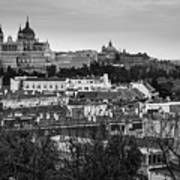 Madrid Panorama From Debod Lookout Madrid Spain Poster