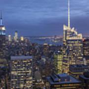 Manhattan Skyline New York Poster