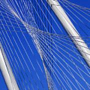 Margaret Hunt Hill Bridge In Dallas - Texas Poster