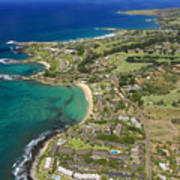 Maui Aerial Of Kapalua Poster