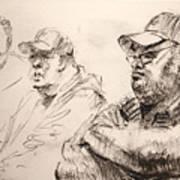 Men At Cafe Poster