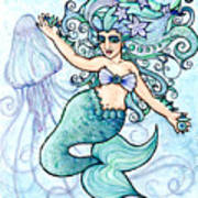 Mermaid Belly Dancer Poster