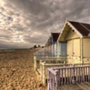Mersea Island Beach Huts Poster