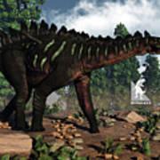 Miragaia Dinosaur - 3d Render Poster