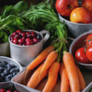 Mix Of Fruits, Vegetables And Berries Poster