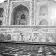 Monochrome Taj Mahal - Sunrise Poster