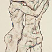 Naked Girls Embracing Poster