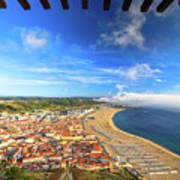 Nazare Portugal Skyline Poster
