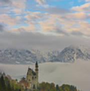 Neuschwanstein Castle Landscape Poster