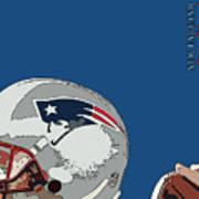 New England Patriots Original Typography Football Team Poster