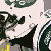 New York Jets Football Team And Original Typography Poster