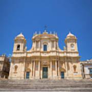 Noto, Sicily, Italy - San Nicolo Cathedral, Unesco Heritage Site Poster