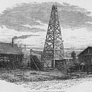Oil Well, 19th Century Poster