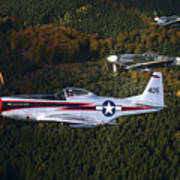 P-51 Cavalier Mustang With Supermarine Poster