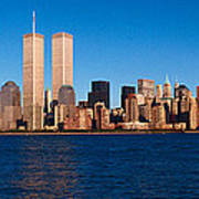 Panoramic View Of Lower Manhattan Poster