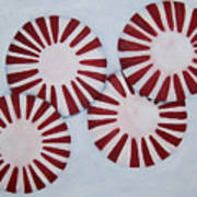 Peppermint Twist Poster by Penny Everhart