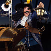 Pirate With A Treasure Chest Poster