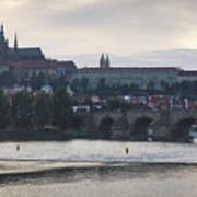 Prague Castle And Charles Bridge Poster