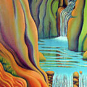 Prosperity Waterfall 2 Poster by Barbara Stirrup