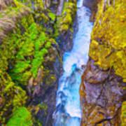 Pyrenees Waterfall Poster