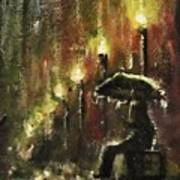 Rain Fantasy aceo painting Poster