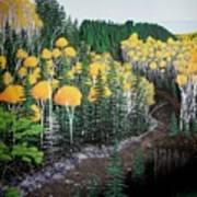 River Through Golden Forest Poster