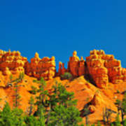 Rock Formations In Red Canyon Park In Utah. Poster