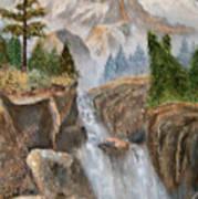 Rocky Mountain Waterfall Poster by Alanna Hug-McAnnally