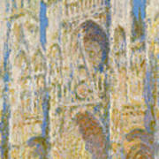 Rouen Cathedral, West Facade, Sunlight Poster