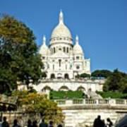 Sacre-coeur /  Basilica Of The Sacred Heart Of Paris Poster