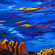 Sailing Sedonas Sky Poster