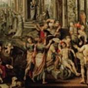 Saint Paul And Saint Barnabas At Lystra Poster