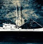 Salty Shrimp Boat Poster