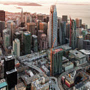 San Francisco Financial District Skyline Poster