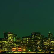 San Francisco Nighttime Skyline Poster
