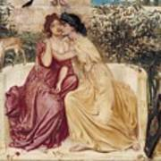 Sappho And Erinna In A Garden At Mytilene Poster