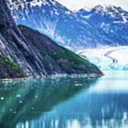 Sawyer Glacier At Tracy Arm Fjord In Alaska Panhandle Poster