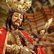 Senhor Bom Jesus Da Pedra Poster by Gaspar Avila