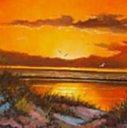 Siesta Sunset Poster