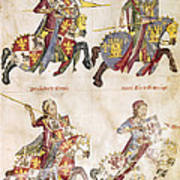 Spain: Knights, C1350 Poster