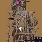 Statue Of Liberty Being Built 1876-1881 Paris Collage Pierre Petit Poster