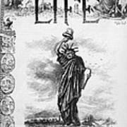 Statue Of Liberty Cartoon Poster