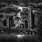 Storm Over Frankfurt Poster