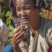 Street Portrait Of A Smoking Woman Poster