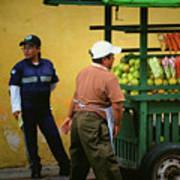 Street Vendor - Antigua Guatemala Poster